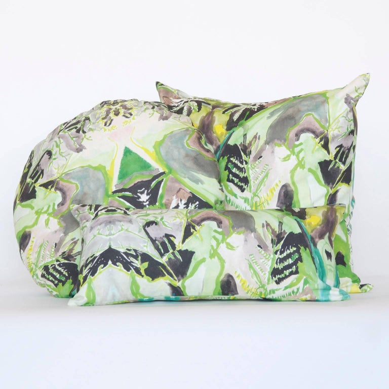 Contemporary Square Fern Pillow For Sale