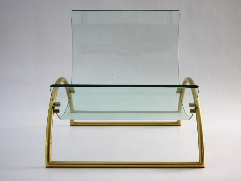 Magazine Rack Holder by Fontana Arte, circa 1960s In Good Condition For Sale In Bern, CH