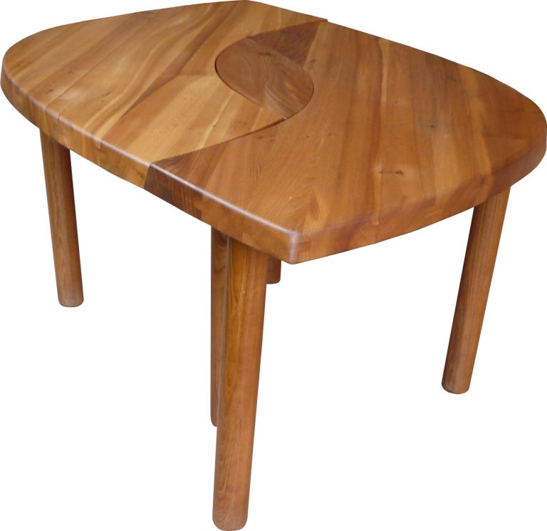 Table T 22 F from Pierre Chapo from 1967 in French Elm