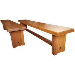 Two Benches from Pierre Chapo from 1968 Elm in French