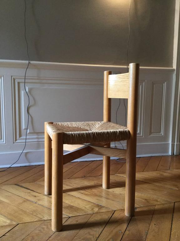 Charlotte Perriand Chair for Méribel, circa 1950 In Excellent Condition For Sale In Lyon, FR