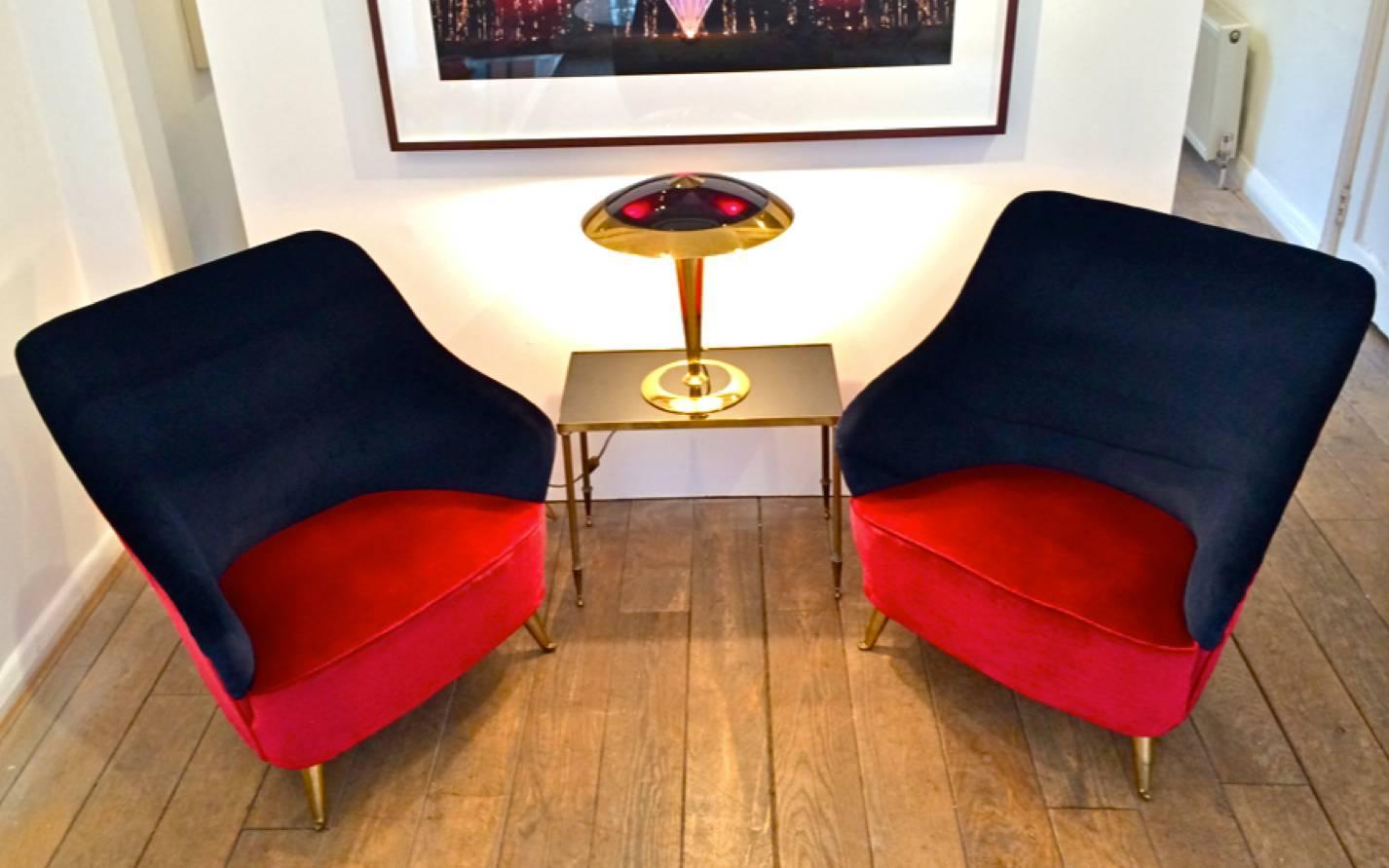 Pair Of Italian Cocktail Chairs For Sale At 1stdibs