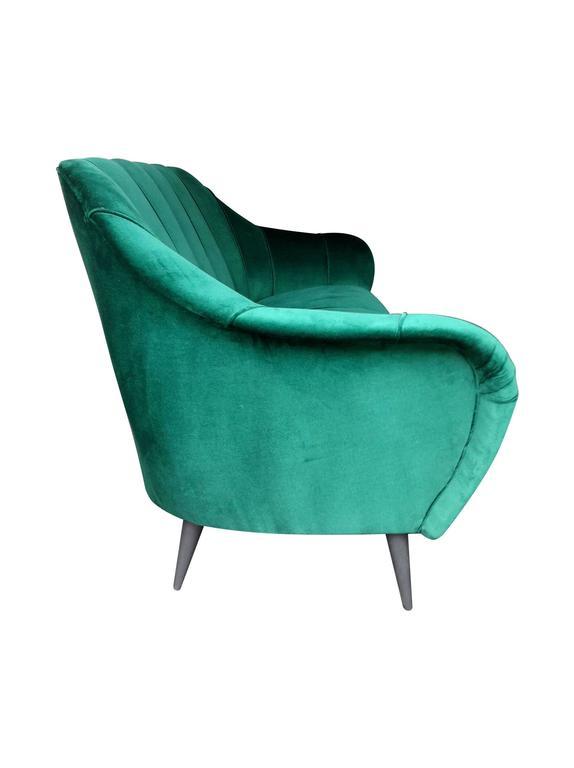 Italian Emerald Green Velvet Sofa At 1stdibs