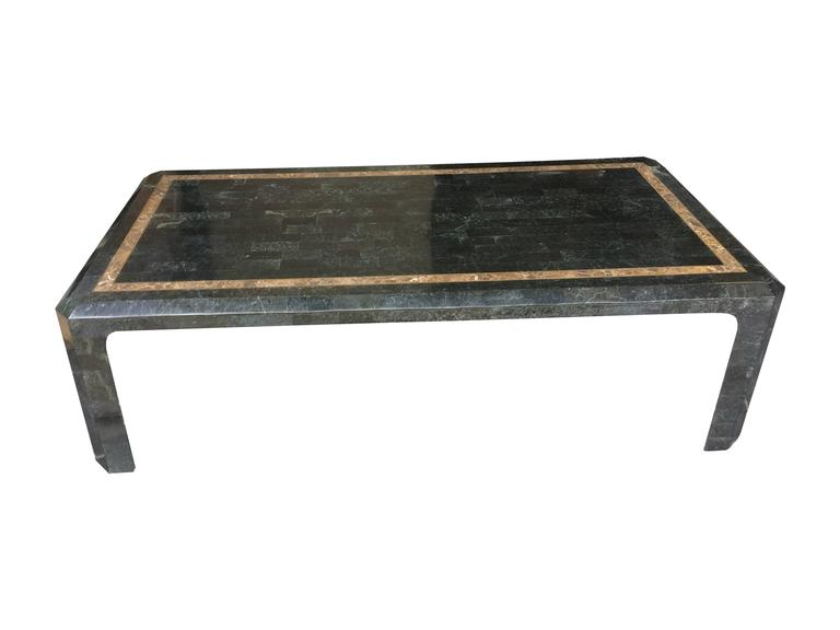 Maitland Smith Tessellated Marble And Shell Coffee Table For Sale At 1stdibs