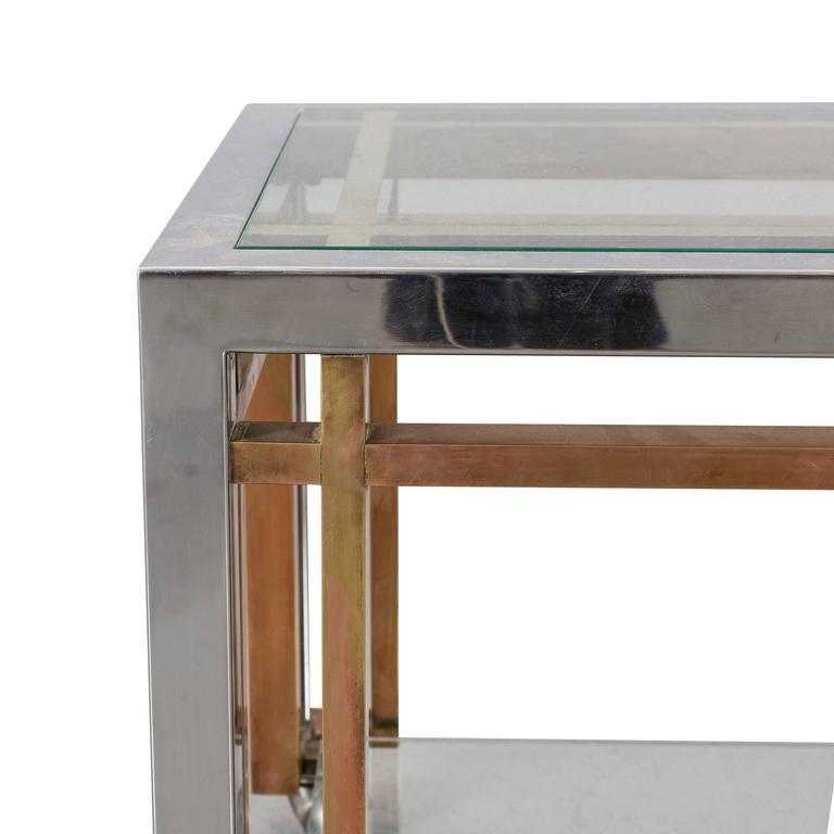 Mid-Century Modern Romeo Rega Side Table Trolley For Sale