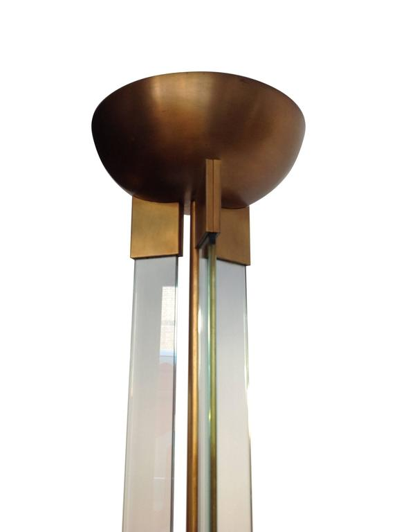 Art Deco Style Glass And Brass Floor Lamp For Sale At 1stdibs