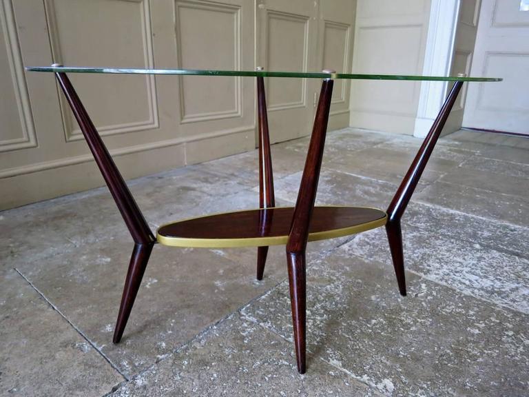 Mid century modern italian glass coffee table end table - Coffee table italian design ...