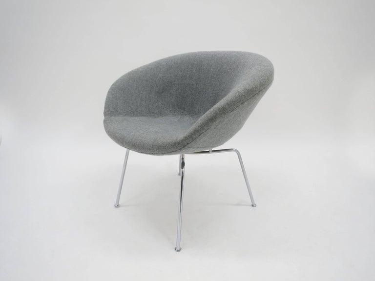 Arne jacobsen pot chair for fritz hansen danish 1950s for Danish design stuhl