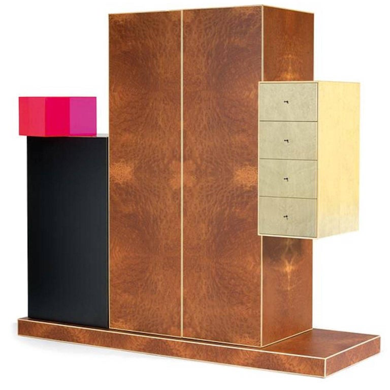 Ettore Sottsass, Cabinet, Out Production, Oak Design Edizioni, Italy