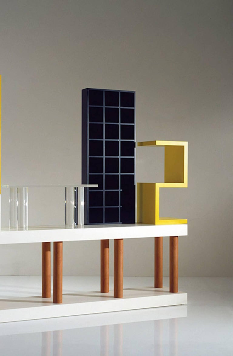 Modern Ettore Sottsass, Bookcase, Out Production, Oak Design Edition, Italy For Sale