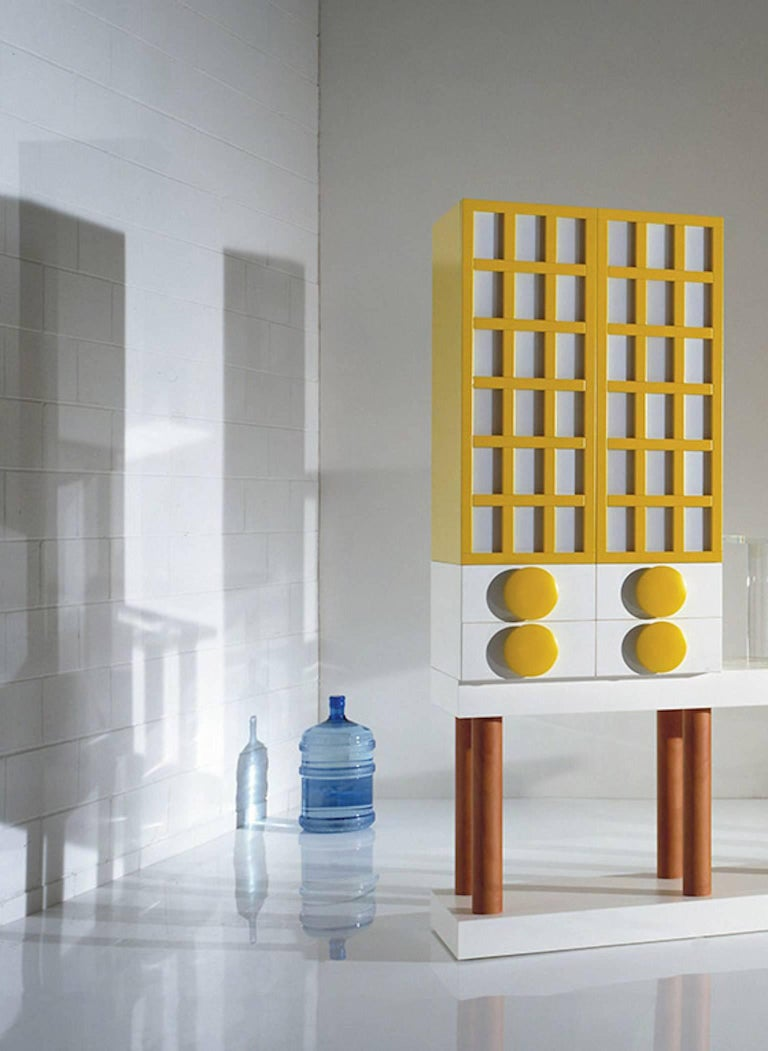 Italian Ettore Sottsass, Bookcase, Out Production, Oak Design Edition, Italy For Sale