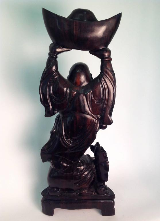 Chinese Beautiful Wood Buddha Sculpture For Sale