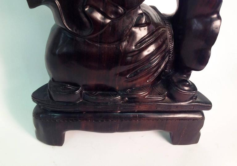 Beautiful Wood Buddha Sculpture In Excellent Condition For Sale In Milan, Italy