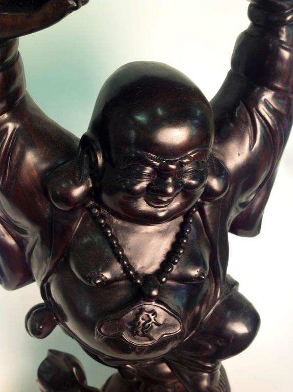 Beautiful Wood Buddha Sculpture For Sale 1