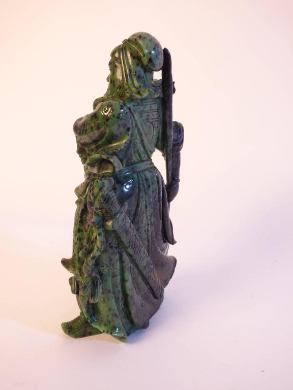 A beautiful zoisite sculpture produced in China. Italian private collection.