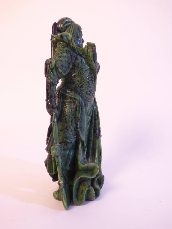 Chinese Beautiful Zoisite Sculpture For Sale