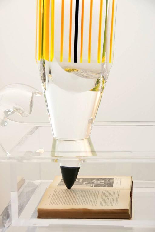 Modern Marco Pettinari, Plexiglass Sculpture 'Manzoni's Pencil', Italy, 2011 For Sale