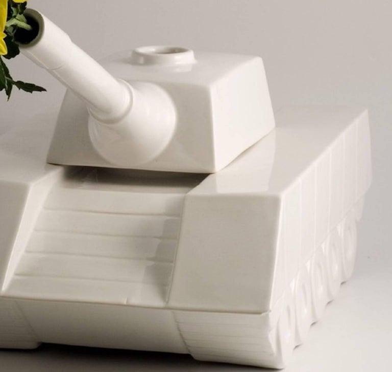 Modern Andrea Visconti Love Tank Ceramic Sculpture Superego Editions, Italy For Sale