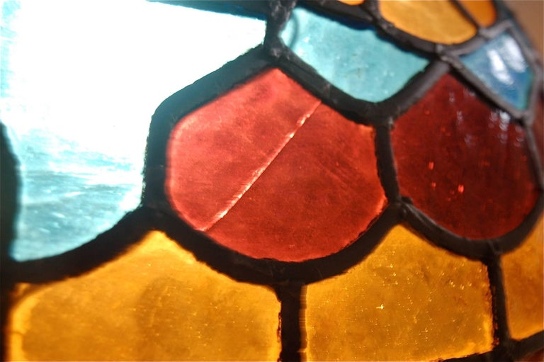 Handcrafted Tiffany Style Stained Glass Pendant Lamp, Late 20th Century, Germany For Sale 4