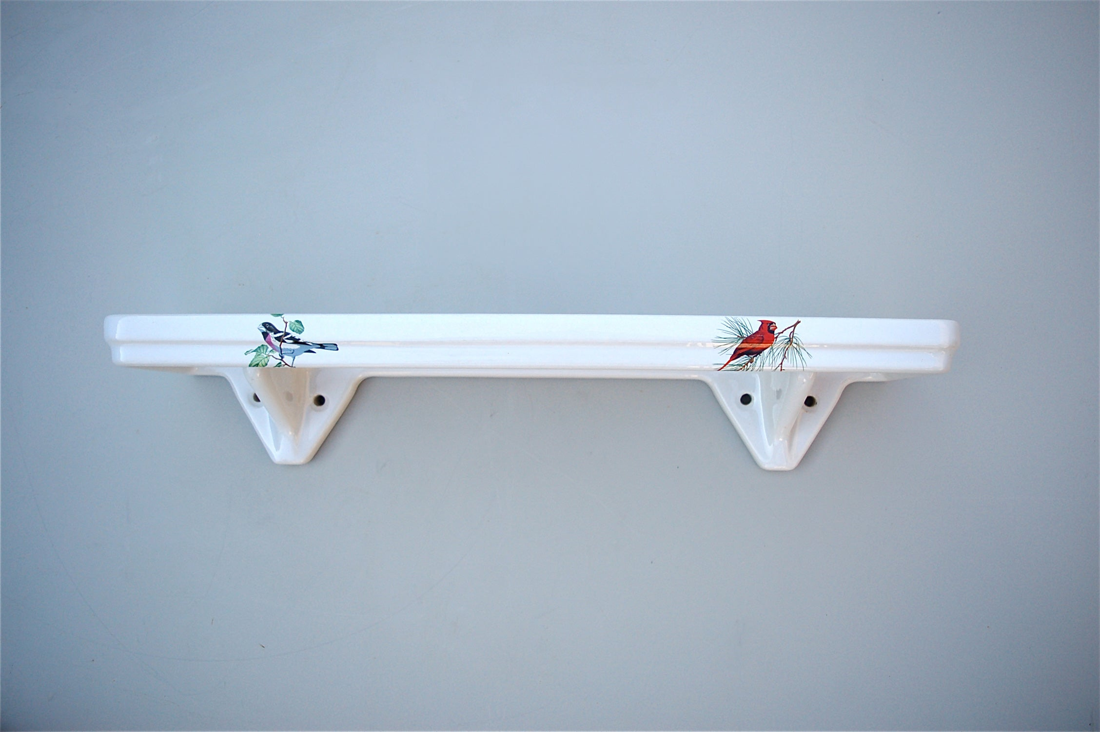 Porcelain Bathroom Vanity Shelf with Bird Decoration, 1950s, France ...