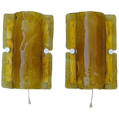 Pair of Murano Glass Wall Light Sconces by J.T. Kalmar, Austria, 1960s