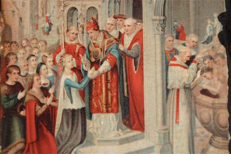 Plaster Rare Miniature Replica of Sint Ursula Shrine, Mid-20th Century For Sale