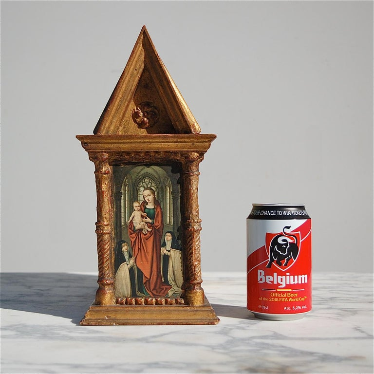 Gothic Rare Miniature Replica Shrine, Mid-20th Century For Sale