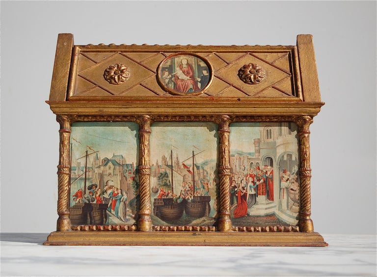 Rare Miniature Replica Shrine, Mid-20th Century In Good Condition For Sale In Noorderwijk, BE