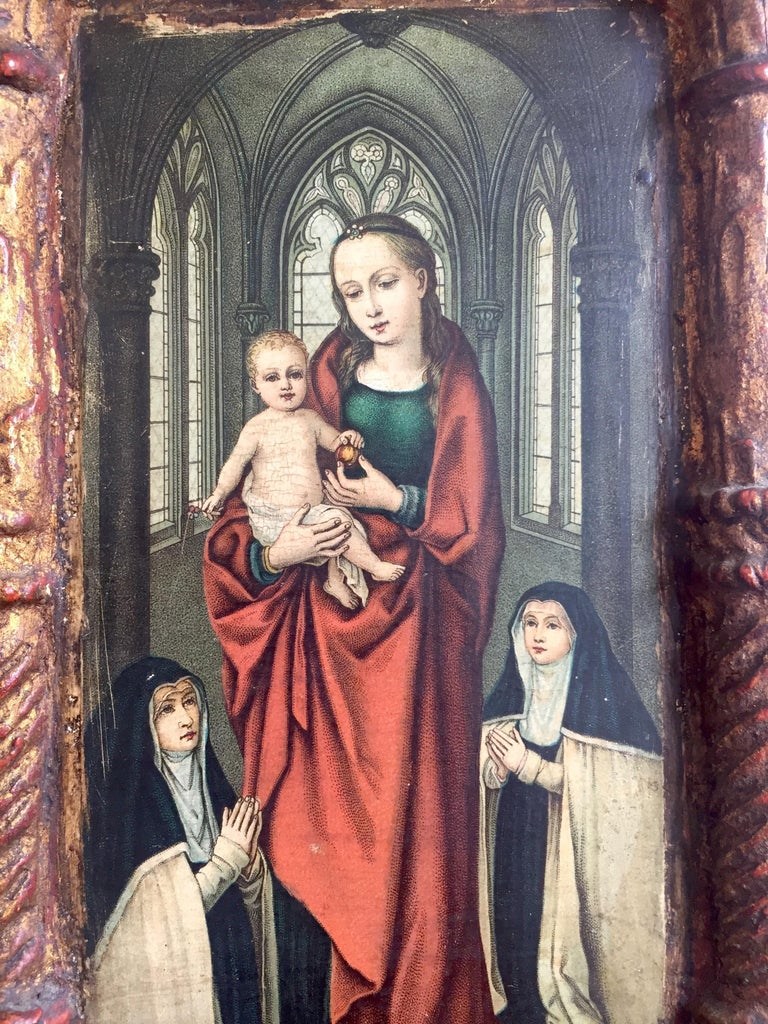 Rare Miniature Replica of Sint Ursula Shrine, Mid-20th Century For Sale 1