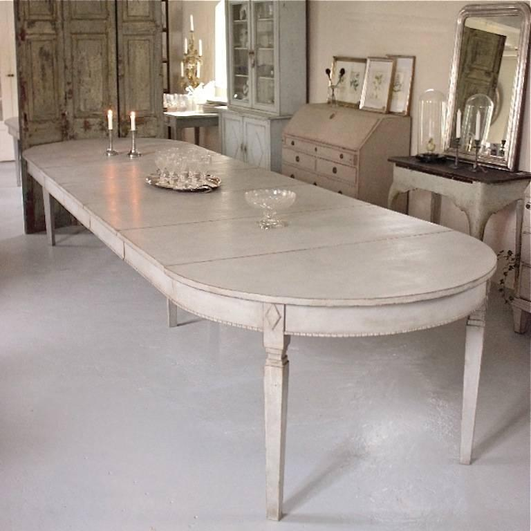 Swedish Gustavian Style Extension Dining Table At 1stdibs