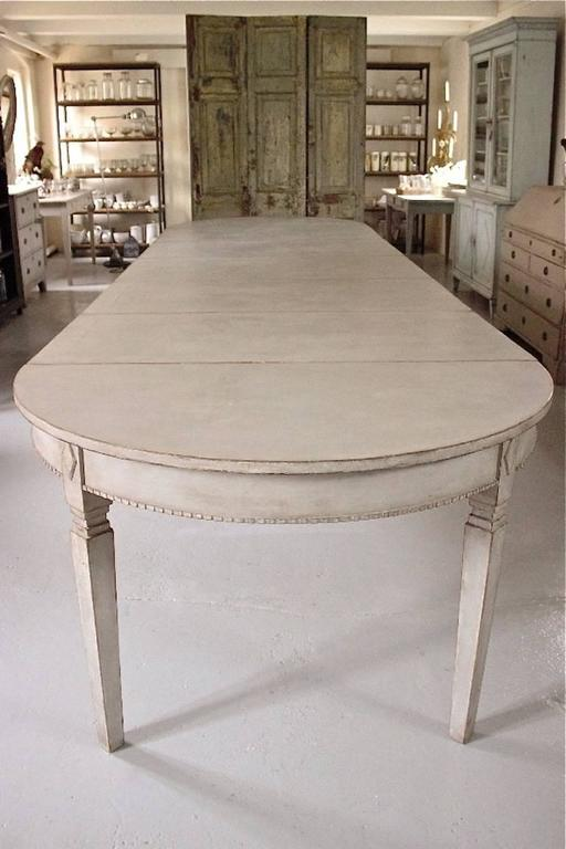 this swedish gustavian style extension dining table is no longer
