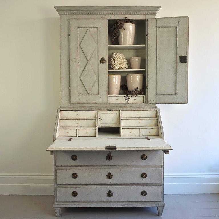 18th century swedish gustavian period secretaire bureau for Bureau secretaire