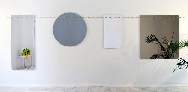 Plated Sewn Surfaces Mirror / Small For Sale