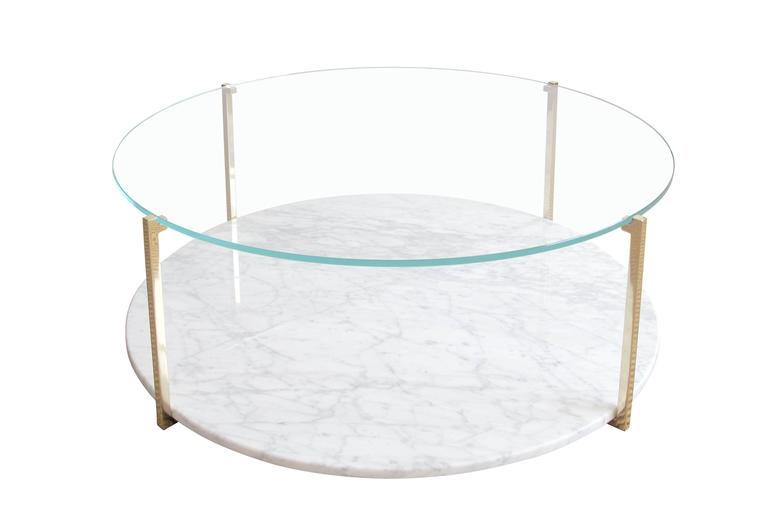 James Devlin Studio's Arturo Cocktail Table is at once lightweight and monumental. Strong enough to anchor a room with its generous cut of slab marble, but possessed of a delicate profile that harmonizes and joins together seating elements in any