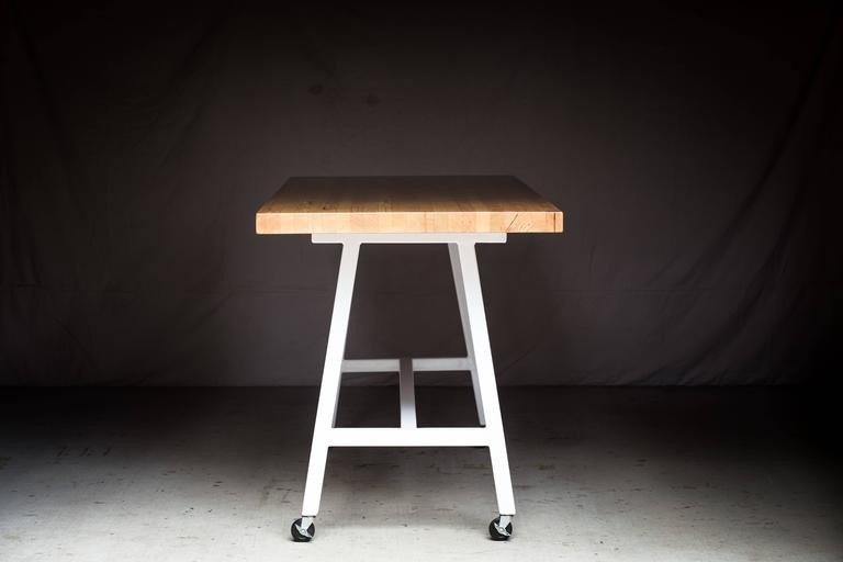 The Mill Table, Modern Doug Fir and Powder Coated Steel Bar/Table For Sale 3
