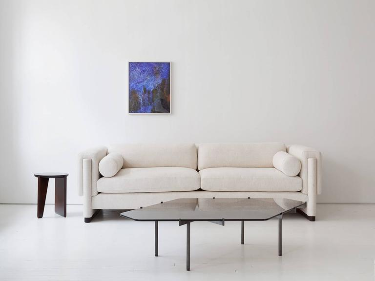 American Howard Sofa, Upholstered Down and Solid Wood For Sale