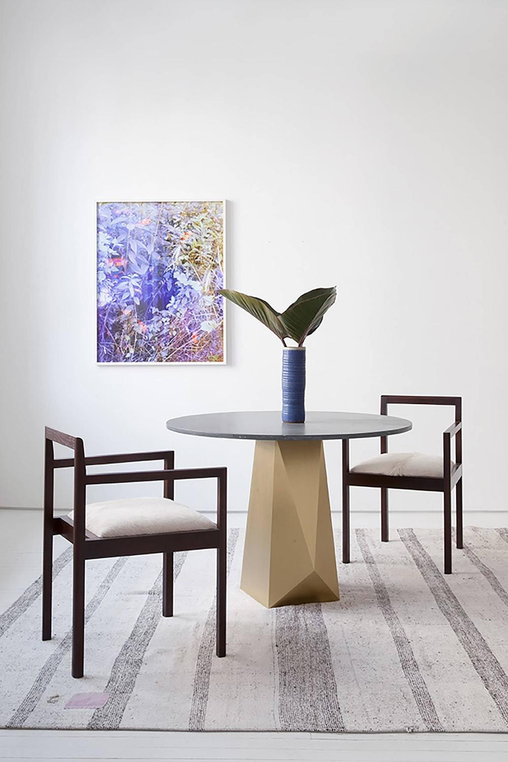 Oscar Dining Table Brass And Stone For Sale At 1stdibs