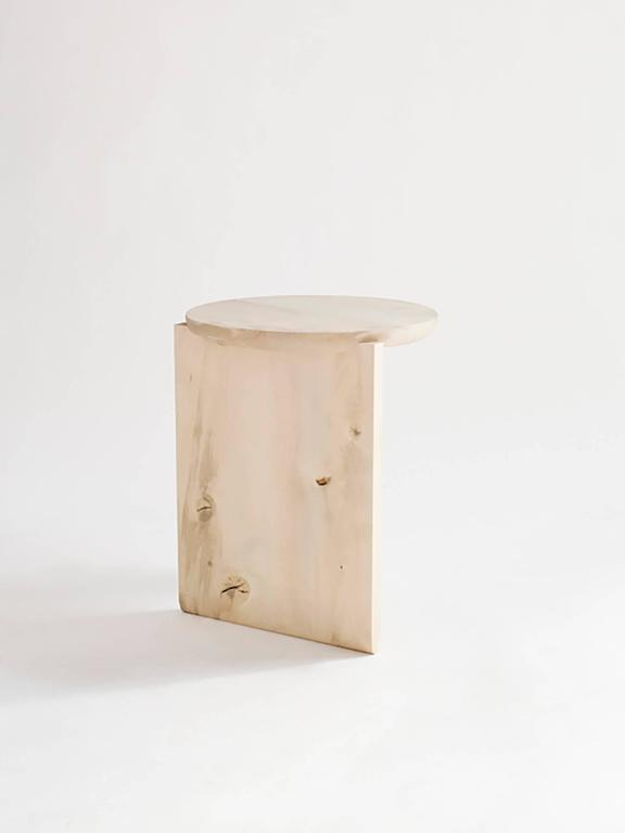 American Wu Side Table or Stool, Solid Wood For Sale