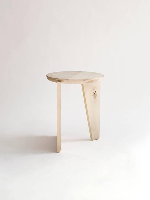 The Wu Stool is a made-to-order contemporary piece handcrafted in our Brooklyn studio. It can be used as a stool or side table, and is constructed of solid wood.