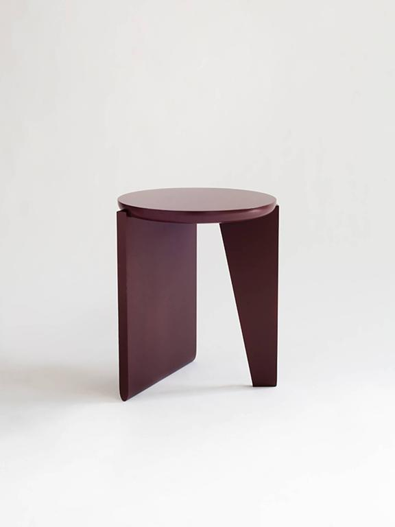Contemporary Wu Side Table or Stool, Solid Wood For Sale