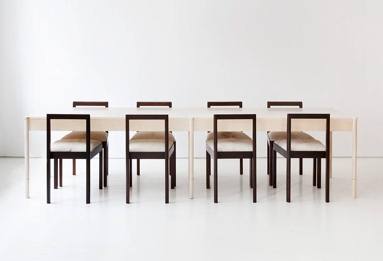 Contemporary Densen Side Chair Solid Wood For Sale