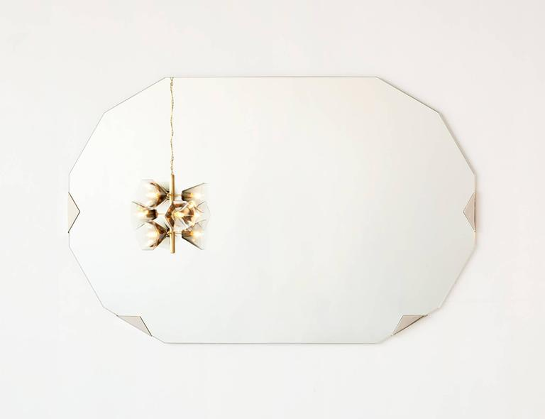 American Haynes Mirror, Brass For Sale
