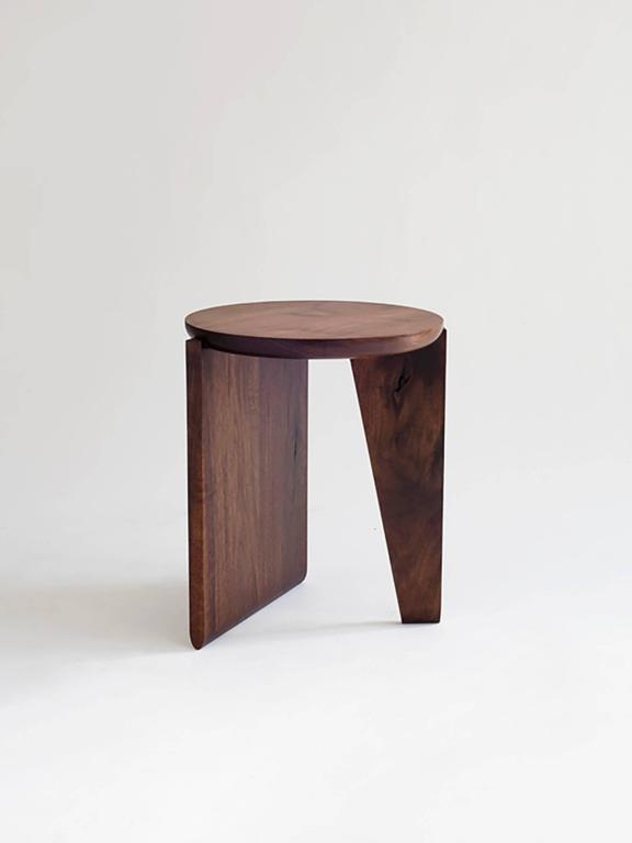 Maple Wu Side Table or Stool, Solid Wood For Sale