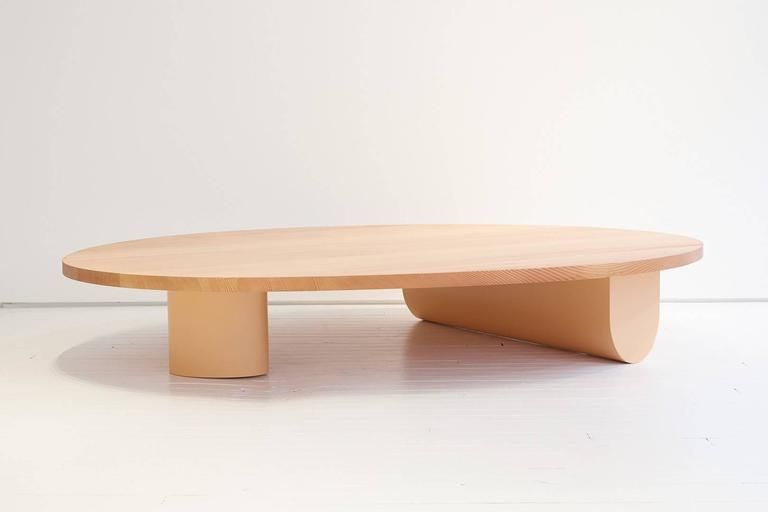Isla Coffee Table, Solid Wood and Lacquer In Excellent Condition For Sale In New York, NY