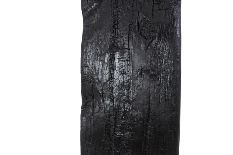 Modern Shou Sugi Ban Charred Grandfather Clock from New York City Water Tower Wood For Sale