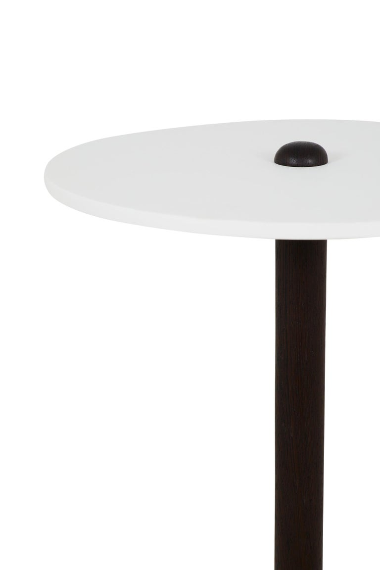 Brutalist CT-1 Cast Concrete and Corian Side Table For Sale