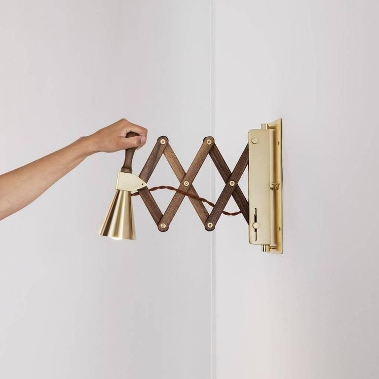 Modern Accordion Bell Sconce For Sale