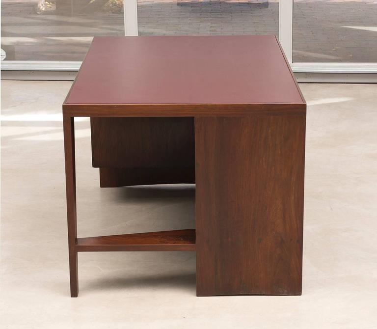 Mid-Century Modern Pierre Jeanneret Chandigarh Desk in Indian Rosewood, 1950s For Sale