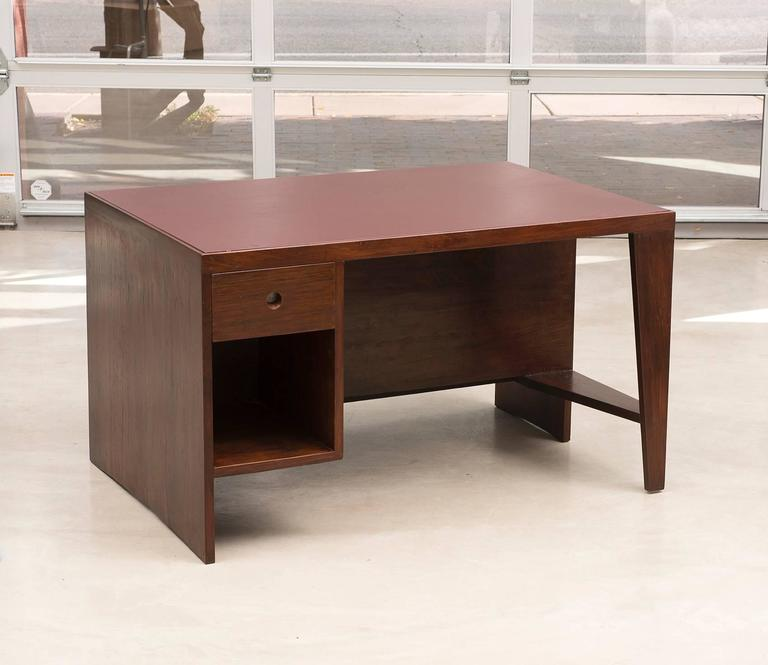 Mid-20th Century Pierre Jeanneret Chandigarh Desk in Indian Rosewood, 1950s For Sale