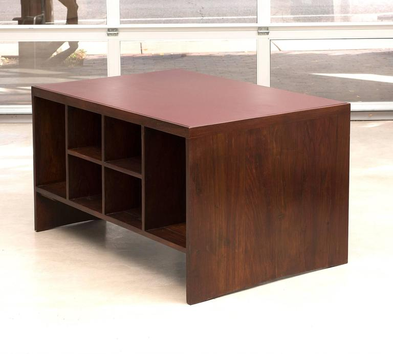 Pierre Jeanneret Chandigarh Desk in Indian Rosewood, 1950s For Sale 1